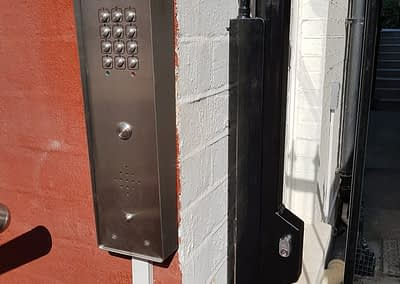 Hinged Bar Security Gate - Gate with Door Entry Phone Systems
