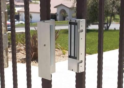 Hinged Bar Security Gate - Magnetic Locks